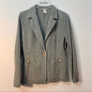 The Territory Ahead Button Front Cotton Blazer